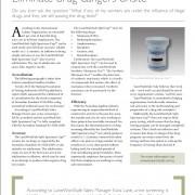 Eliminate drug dangers on-site